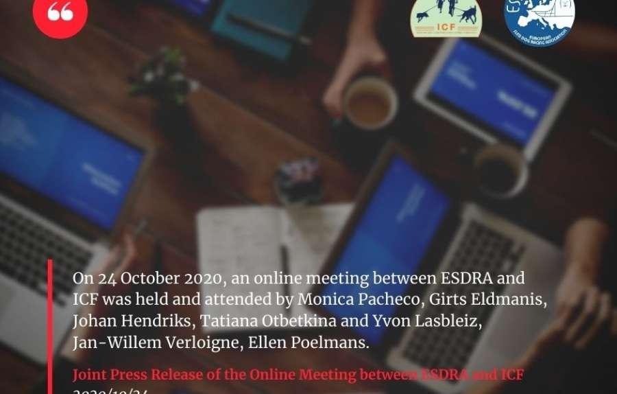 Совместный пресс-релиз онлайн-встречи ESDRA и ICF